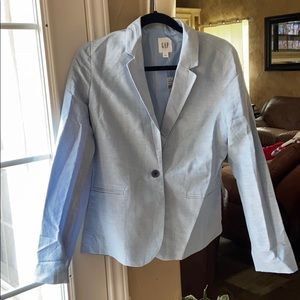 GAP linen blue blazer Size 6